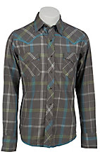 Roper® Men's Long Sleeve Western Snap Shirt 00620115GY