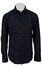 Roper® Men's Long Sleeve Western Snap Shirt 00640123BL