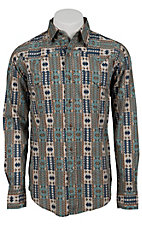 Roper® Men's Long Sleeve Western Snap Shirt 00640127BR