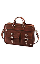American West® Mahogany Oakleaf Collection Brown Briefcase