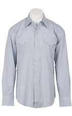 Stetson® Mens Blue Check Long Sleeve Western Snap Shirt 04780036