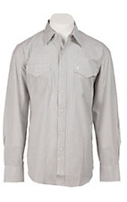 Stetson® Mens Brown Check Long Sleeve Western Snap Shirt 0478033