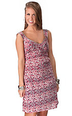 Tin Haul® Women's Grey & Pink Animal Print Sleeveless Dress