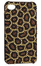 M&F Western Products® Bling Brown, Black & Gold Leopard iPhone 4 Case