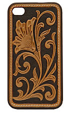 M&F Western Products® Brown with Tan Embossed Tooled Flower iPhone Case