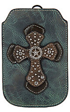 M&F Western Products® Blue with Brown Cross and Strap iPhone Sleeve