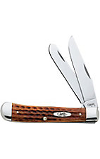 Case Knives® Pocket Worn Harvest Orange Trapper