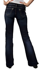 Stetson® Women's Dark Stonewash w/ S Stitch Open Pocket Boot Cut Jean