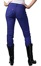 Booty Up™ by Wrangler® Ladies Blue Ultra Low Rise Skinny Jean