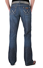 Wrangler® Mae Premium Patch Low Rise Ladies Boot Cut Jean