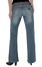 Wrangler® Ladies Mae Premium Patch Low Rise Girl About Town Boot Cut Jean