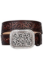 Ariat® Brown Rhinestone Fillagree Ladies Belt 10006957