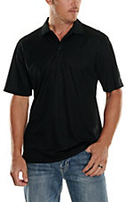 Ariat TEK Mens S/S Solid Black Polo Shirt 10009062