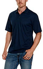 Ariat TEK Mens S/S Solid Navy Polo Shirt 10009063