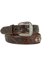 Ariat® Cason Chocolate Crystal Mens Belt 10009387