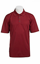 Ariat TEK Mens S/S Solid Red Polo Shirt 10010550