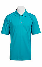 Ariat TEK Mens S/S Solid Turquoise Polo Shirt 10010558