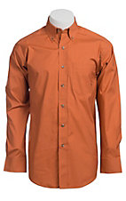 Ariat Mens L/S Solid Orange Shirt 10010559