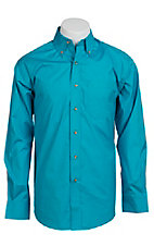 Ariat Mens L/S Solid Turquoise Shirt 10010560