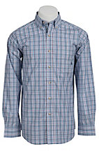 Ariat® Men's L/S Benton Blue Western Plaid Shirt 10010562