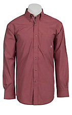 Ariat® Men's L/S Boyce Red Western Plaid Shirt 10010571
