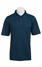 Ariat TEK Mens S/S Solid Steel Polo Shirt 10010589