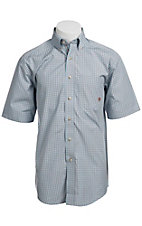 Ariat® Men's S/S Hill Freeze Frame Windowpane Western Plaid 10010602