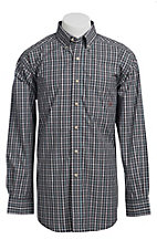 Ariat® Men's L/S Hartson Grey Western Plaid Shirt 10010606