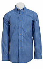Ariat® Men's L/S Callum Blue Western Plaid Shirt