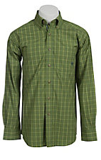 Ariat® Men's L/S Barlow Posh Olive Western Plaid Shirt 10010622