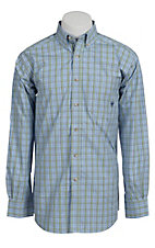 Ariat® Men's L/S Colver Blue Western Plaid Shirt 10010625