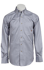 Ariat Mens L/S Solid Light Blue Shirt 10010644
