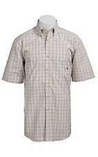 Ariat® Men's S/S Macey White Multi Western Plaid 10010647
