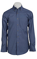 Ariat Mens L/S Solid Blue Shirt 10010654