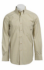Ariat® Men's L/S Maddox Pistachio Western Plaid Shirt 10010672
