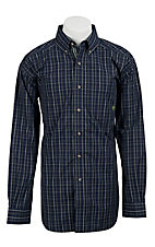 Ariat� Men's L/S Engle Ocean Blue Western Plaid Shirt 10011170