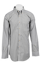 Ariat Men's L/S Balin Slate Stripe Western Shirt 10011174