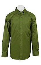 Ariat Mens L/S Solid Green Shirt 10011189
