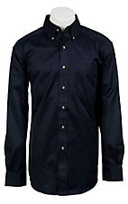 Ariat Mens L/S Solid Navy Shirt  10011191