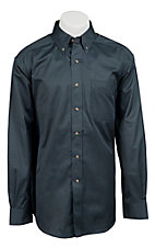 Ariat Mens L/S Solid Slate Blue Shirt 10011193