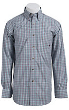 Ariat� Men's L/S Wells Blue Western Mini Check Shirt 10011378