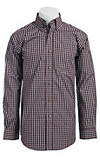 Ariat� Men's L/S Keeley Mulled Wine Western Plaid Shirt 10011405