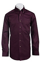 Ariat Mens L/S Solid Plum Shirt 10011407