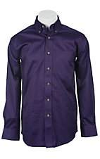 Ariat Mens L/S Solid Midnight Orchid Shirt 10011412