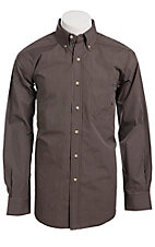 Ariat Men's L/S Myer Cocoa Western Stripe Shirt 10011420