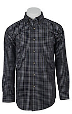 Ariat Men's L/S Allen Black Western Plaid Shirt 10011428