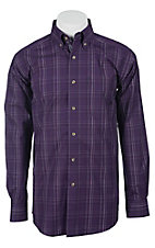 Ariat Men's L/S Cameron Midnight Orchid Western Plaid Shirt 10011433