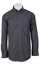 Ariat Men's L/S Costa Black Western Mini Grid Shirt 10011452