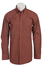 Ariat� Men's L/S Ray Crimson Berry Western Mini Check Shirt 10011461