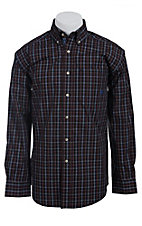 Ariat Men's L/S Black, Red and Blue Western Plaid Shirt 10011466